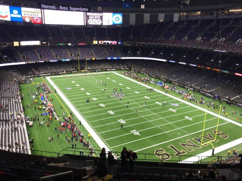 Seating view for Caesars Superdome Section 605 Row 16 Seat 22