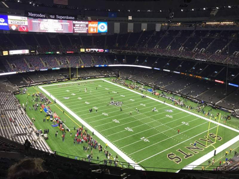 Seating view for Caesars Superdome Section 606 Row 25 Seat 22