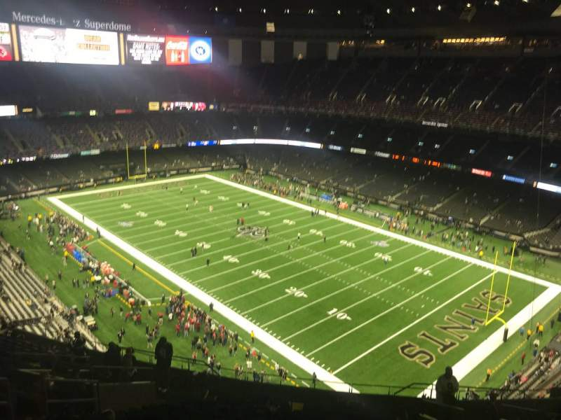 Seating view for Caesars Superdome Section 607 Row 22 Seat 12