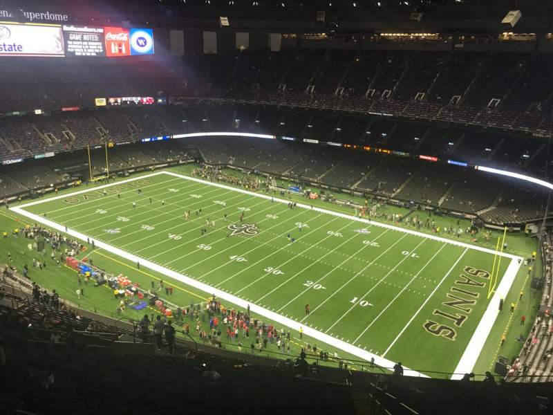 Seating view for Caesars Superdome Section 609 Row 30 Seat 1