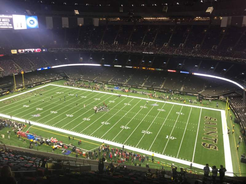 Seating view for Caesars Superdome Section 610 Row 26 Seat 14