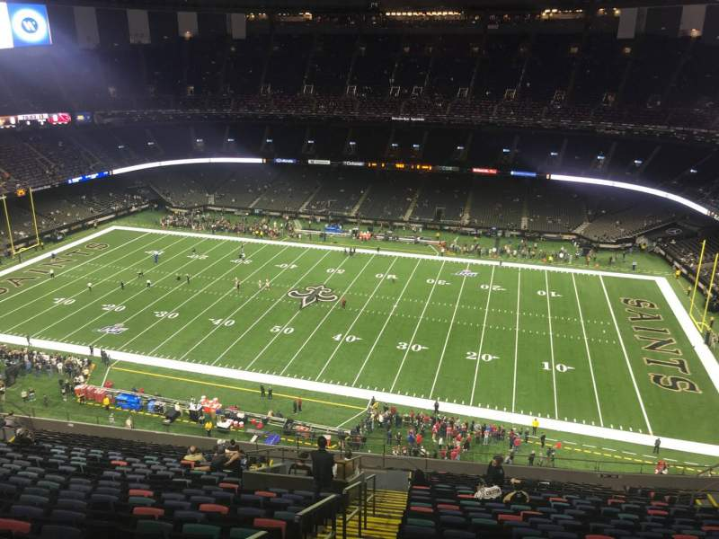 Seating view for Caesars Superdome Section 611 Row 24 Seat 23