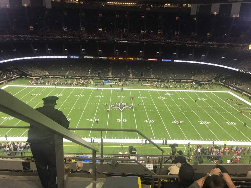 Seating view for Mercedes-Benz Superdome Section 614 Row 10 Seat 11
