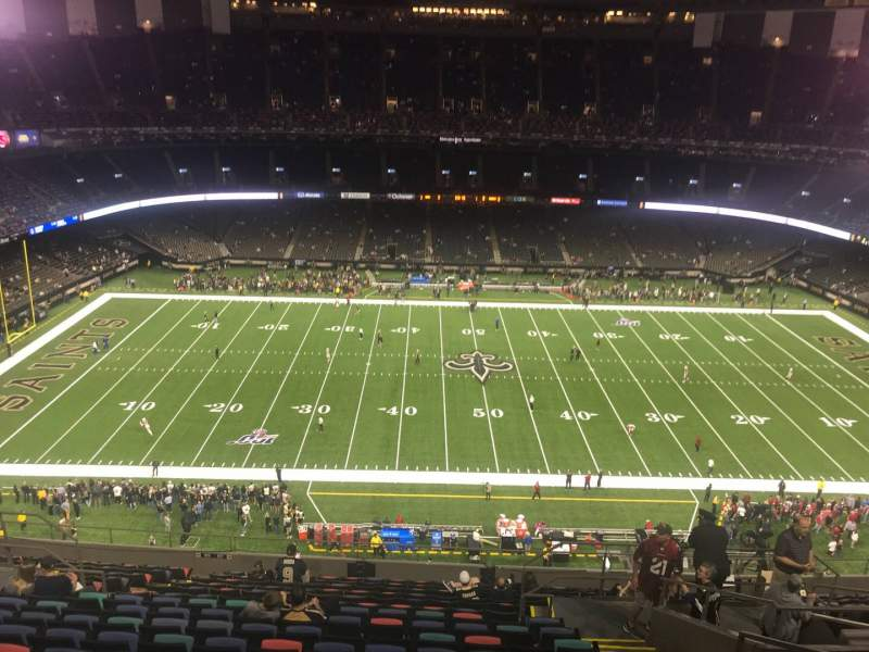 Seating view for Caesars Superdome Section 615 Row 18 Seat 4