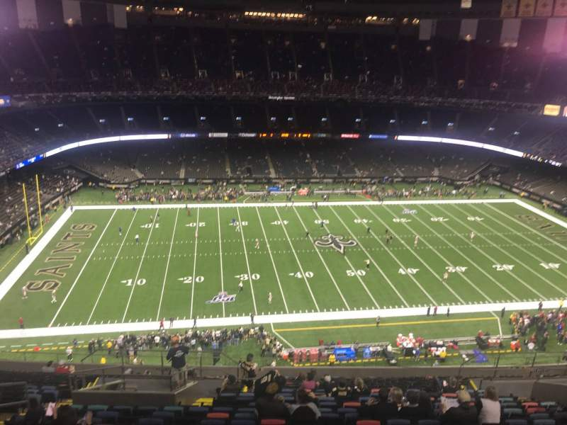 Seating view for Mercedes-Benz Superdome Section 616 Row 22 Seat 15