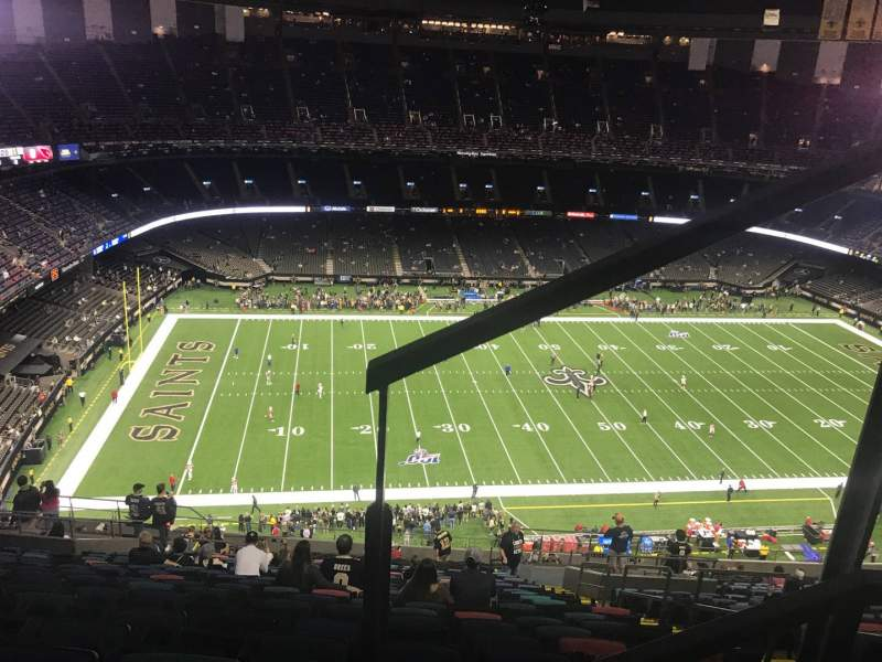 Seating view for Caesars Superdome Section 617 Row 26 Seat 5