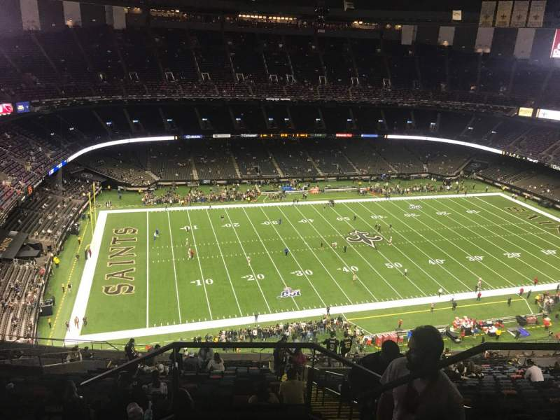 Seating view for Caesars Superdome Section 618 Row 29 Seat 3