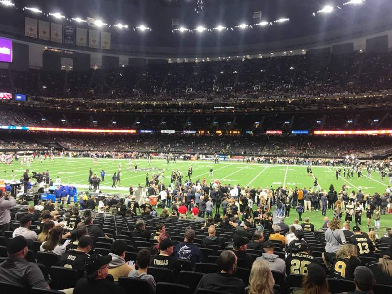 Seating view for Caesars Superdome Section 140 Row 20 Seat 7