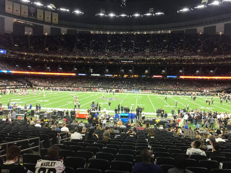 Seating view for Caesars Superdome Section 141 Row 27 Seat 17