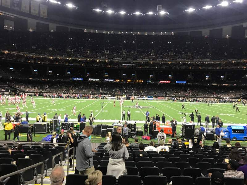 Seating view for Caesars Superdome Section 142 Row 16 Seat 20