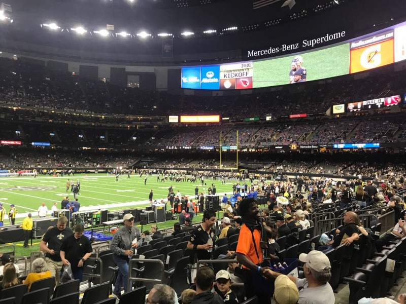 Seating view for Caesars Superdome Section 144 Row 14 Seat 7