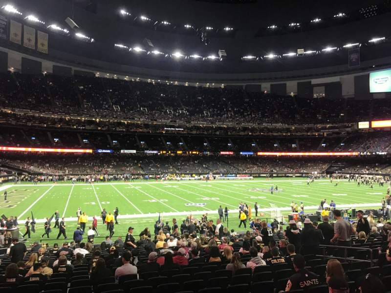 Seating view for Caesars Superdome Section 145 Row 25 Seat 13