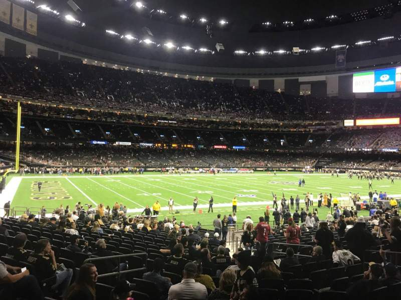 Seating view for Caesars Superdome Section 147 Row 23 Seat 15