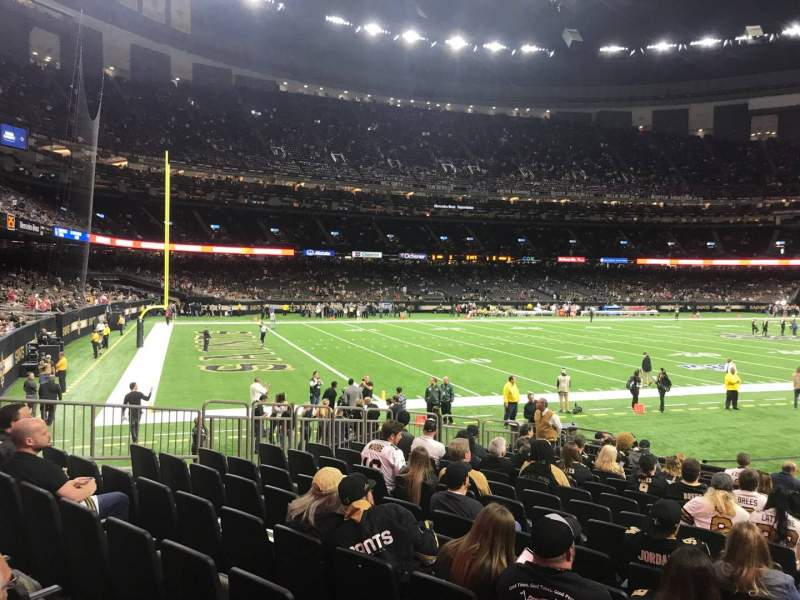 Seating view for Caesars Superdome Section 149 Row 16 Seat 8