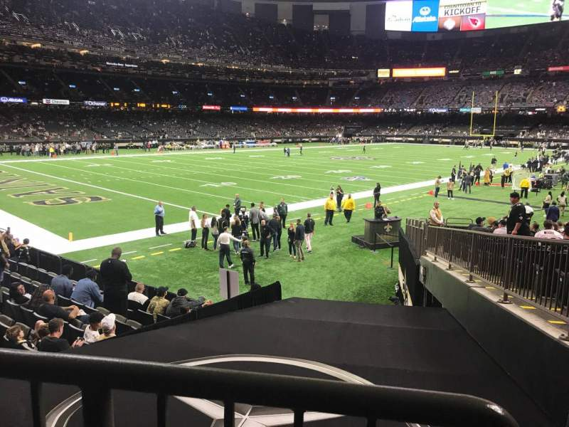 Seating view for Caesars Superdome Section 150 Row 23 Seat 1