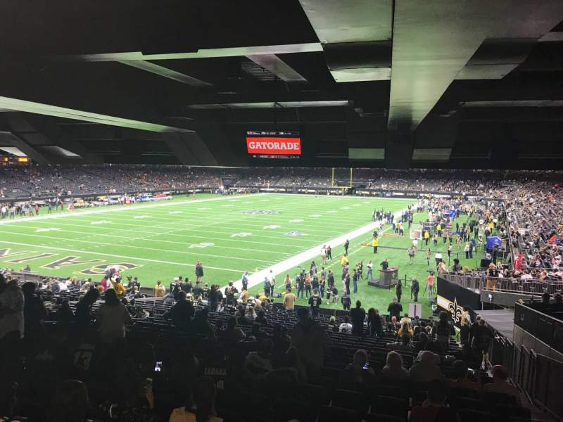 Seating view for Caesars Superdome Section 152 Row 28 Seat 6