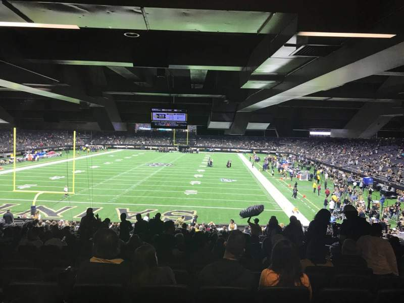 Seating view for Caesars Superdome Section 155