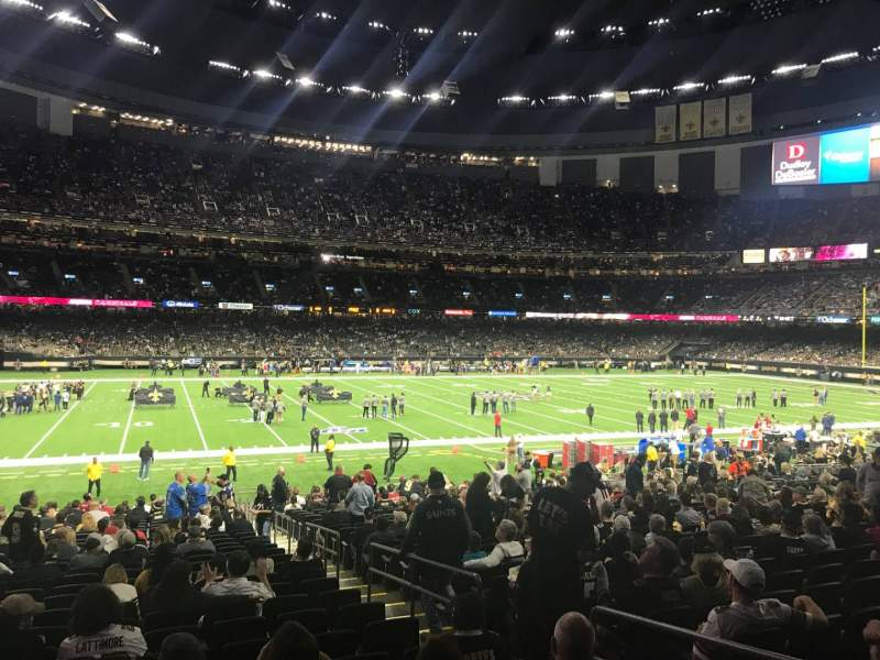 Seating view for Caesars Superdome Section 117 Row 30 Seat 4