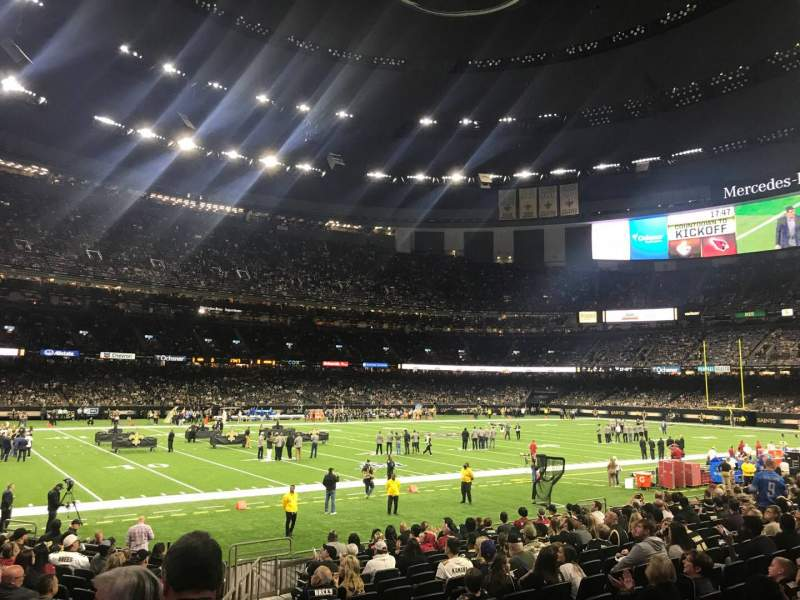 Seating view for Caesars Superdome Section 119 Row 16 Seat 4