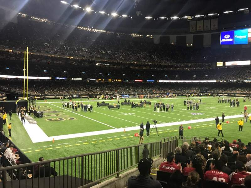 Seating view for Caesars Superdome Section 121 Row 21 Seat 18