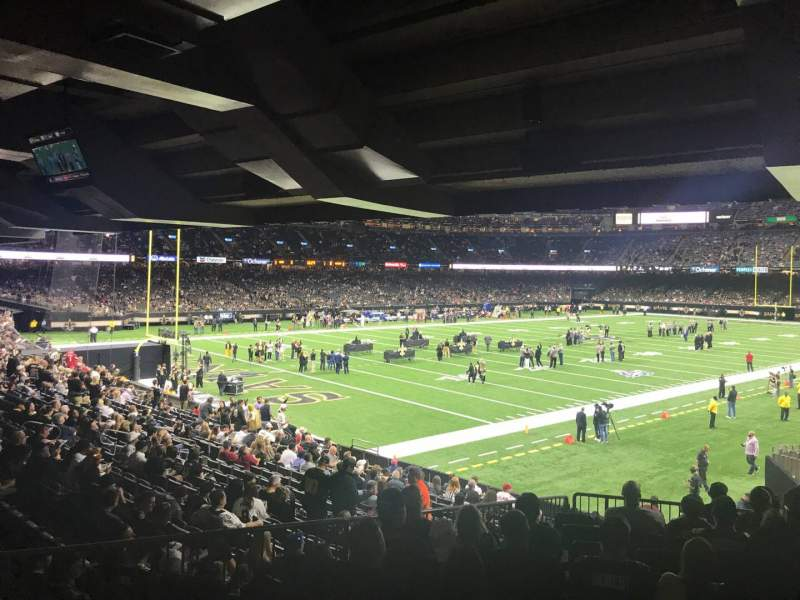 Seating view for Caesars Superdome Section 122 Row 33 Seat 10