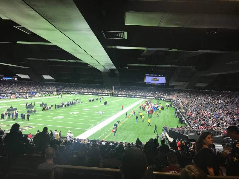 Seating view for Caesars Superdome Section 124