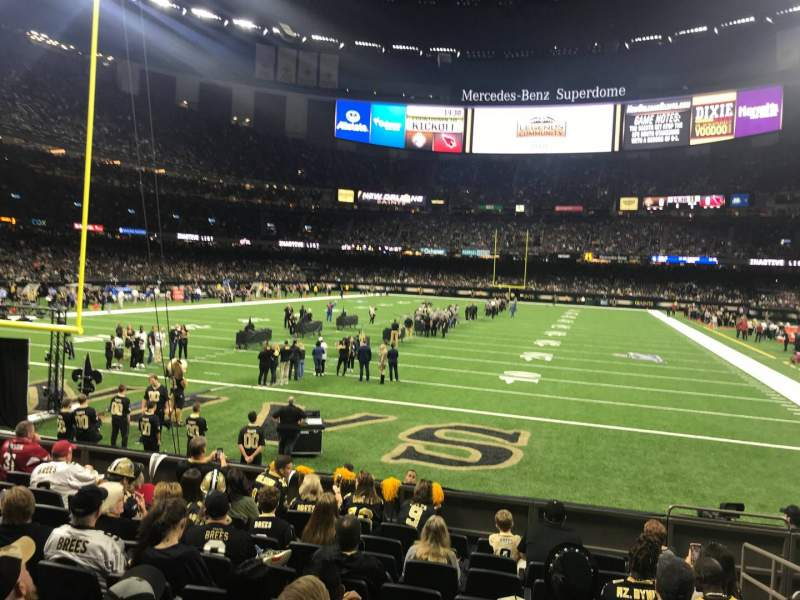 Seating view for Caesars Superdome Section 127 Row 10 Seat 5