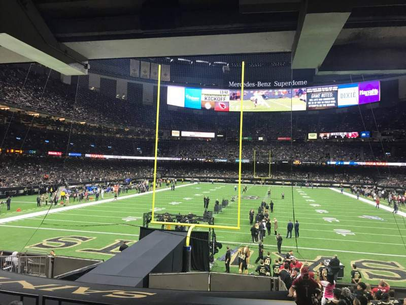 Seating view for Caesars Superdome Section 128 Row 18 Seat 1