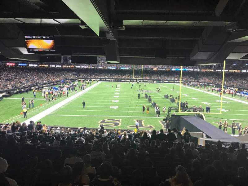 Seating view for Caesars Superdome Section 129 Row 26 Seat 9