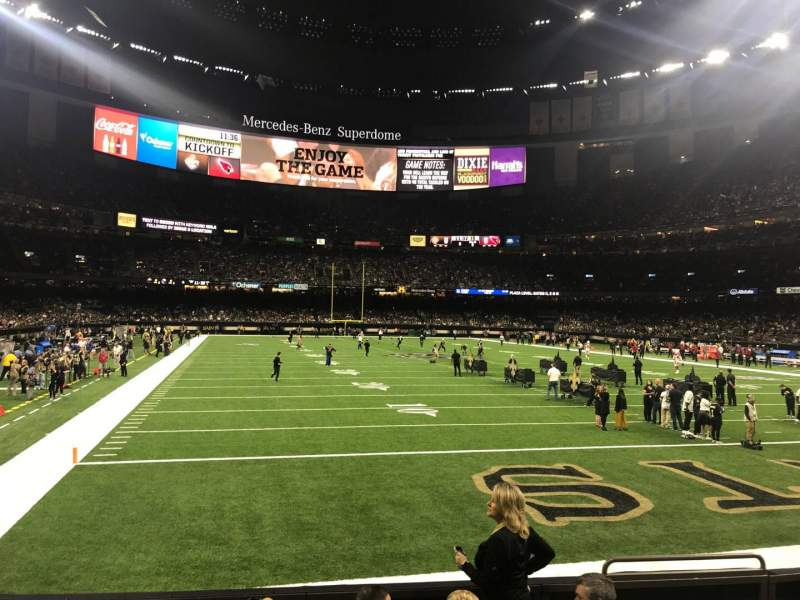 Seating view for Mercedes-Benz Superdome Section 130 Row 6 Seat 4