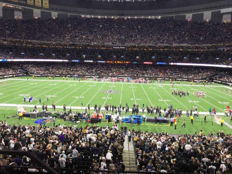 Seating view for Caesars Superdome Section 335 Row 9 Seat 19