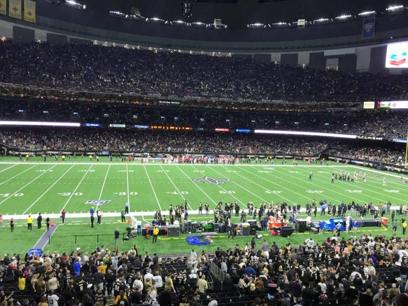 Seating view for Caesars Superdome Section 338 Row 9 Seat 5