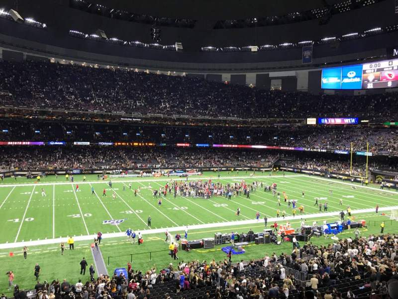 Seating view for Caesars Superdome Section 339 Row 9 Seat 7