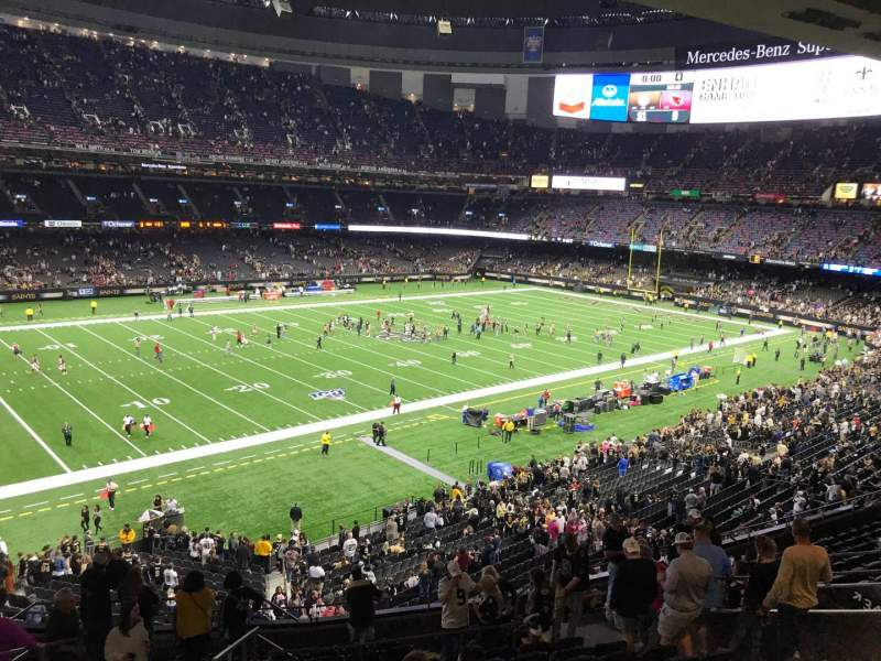 Seating view for Caesars Superdome Section 341 Row 16 Seat 12