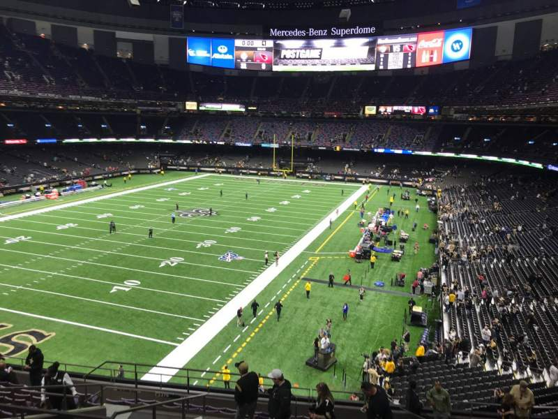Seating view for Mercedes-Benz Superdome Section 344 Row 15 Seat 19