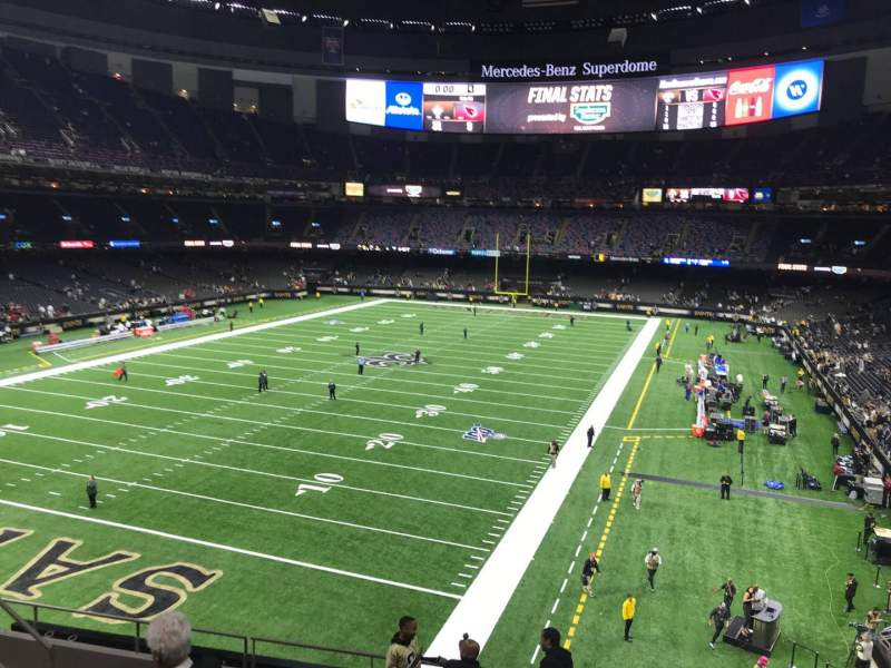 Seating view for Caesars Superdome Section 345 Row 10 Seat 13