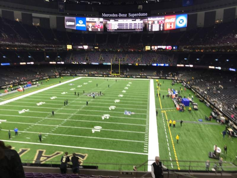 Seating view for Caesars Superdome Section 346 Row 14 Seat 8
