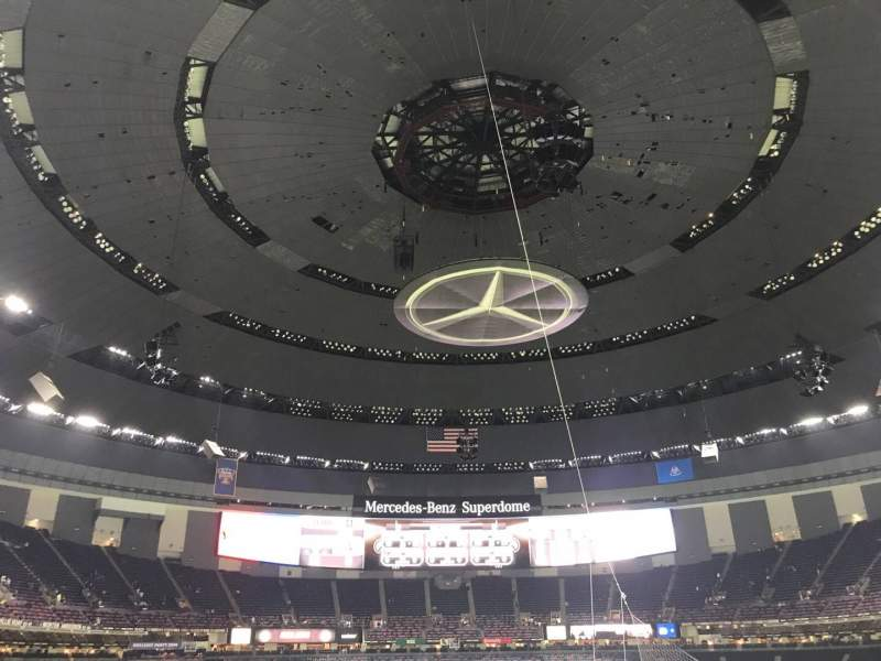 Seating view for Caesars Superdome Section 301 Row 14 Seat 11