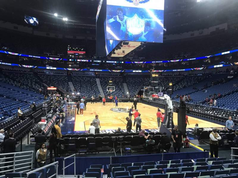 Seating view for Smoothie King Center Section 107 Row 10 Seat 12