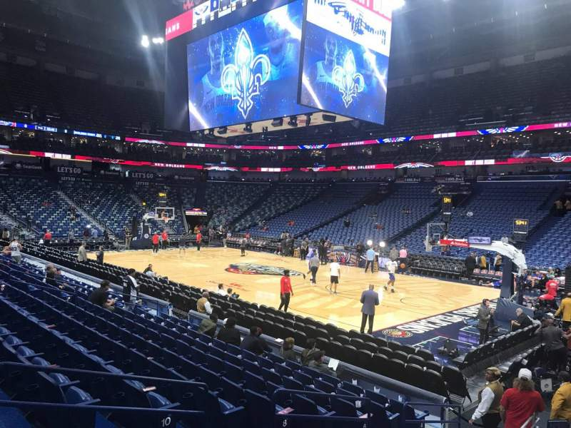 Seating view for Smoothie King Center Section 122 Row 14 Seat 4