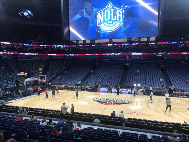 Seating view for Smoothie King Center Section 124 Row 18 Seat 11