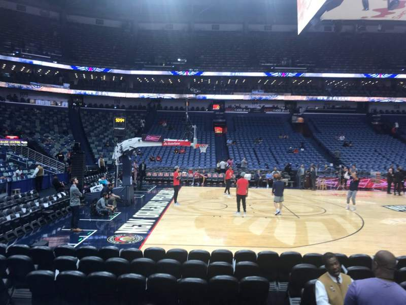 Seating view for Smoothie King Center Section 102 Row 8 Seat 2