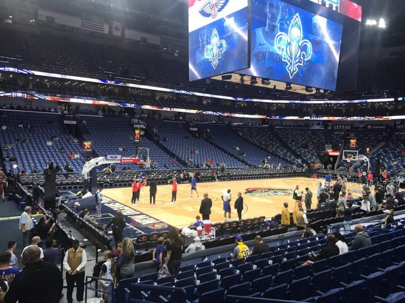 Seating view for Smoothie King Center Section 115 Row 14 Seat 4