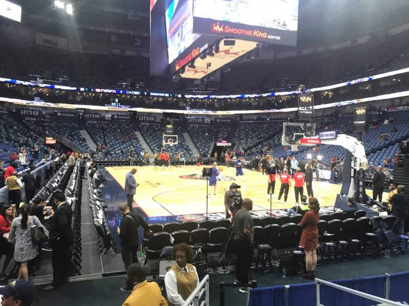 Seating view for Smoothie King Center Section 120 Row 5 Seat 3