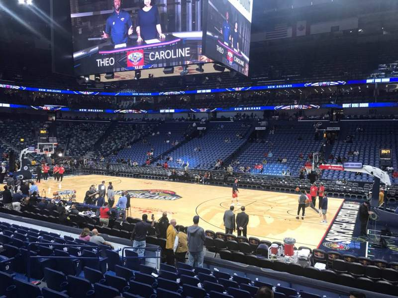 Seating view for Smoothie King Center Section 111 Row 14 Seat 8