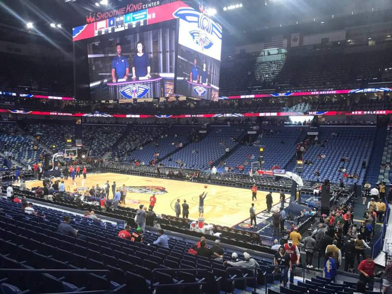 Seating view for Smoothie King Center Section 110 Row 20 Seat 10