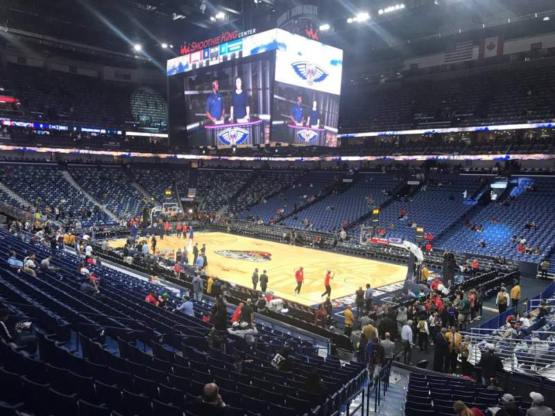 Seating view for Smoothie King Center Section 109 Row 23 Seat 20