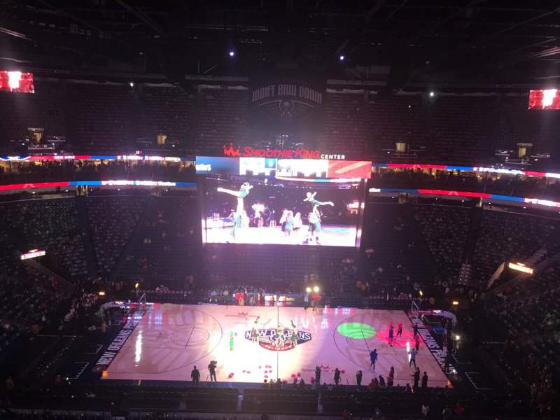 Seating view for Smoothie King Center Section 332 Row 10 Seat 11