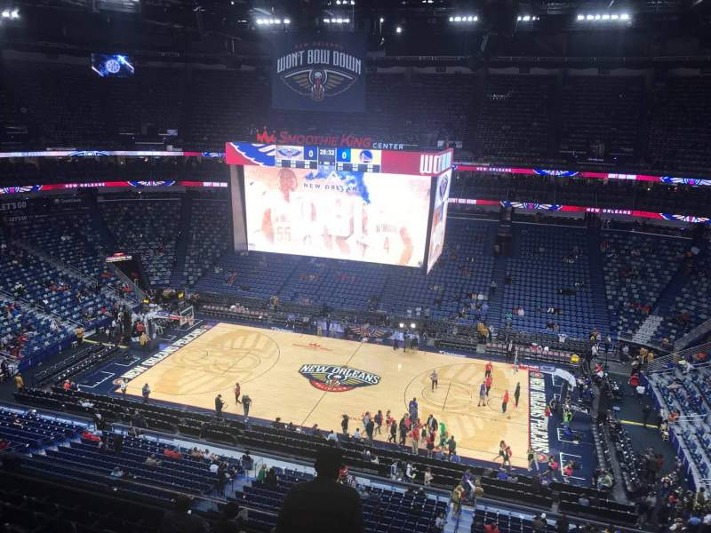 Seating view for Smoothie King Center Section 331 Row 8 Seat 6