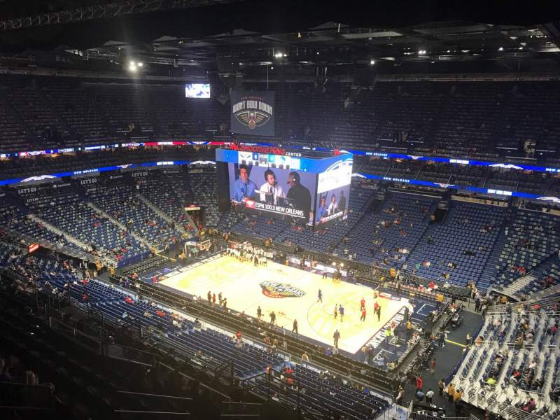 Seating view for Smoothie King Center Section 329 Row 15 Seat 15